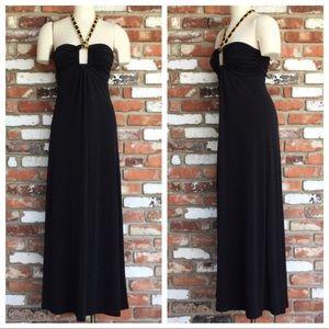 Gorgeous SELE' Black Peek-A-Boo Halter Dress/Gown!
